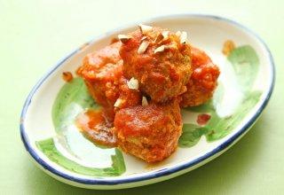 「シチリア風肉団子」刻んだアーモンドが程よいアクセントに