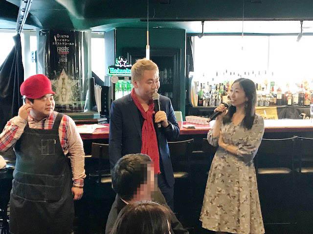 田中絵音さんが司会進行(右)/(C)コクハク