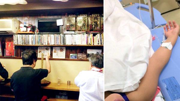 おじサマは背中こそ/(右)遂に倒れて病院送り、愛の末路…。/(C)小悪魔ドルチェ寿司