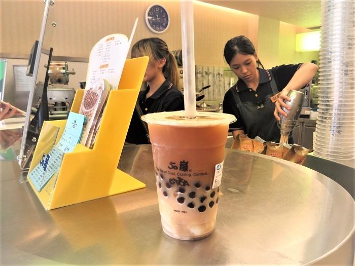 バニラアイスと紅茶の組み合わせ(写真:インリン)