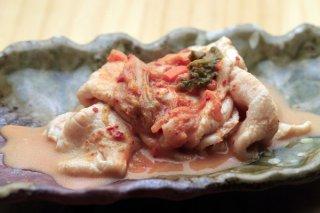 「水しゃぶ豚キムチ」お手軽低温調理でしっとりとした食感に