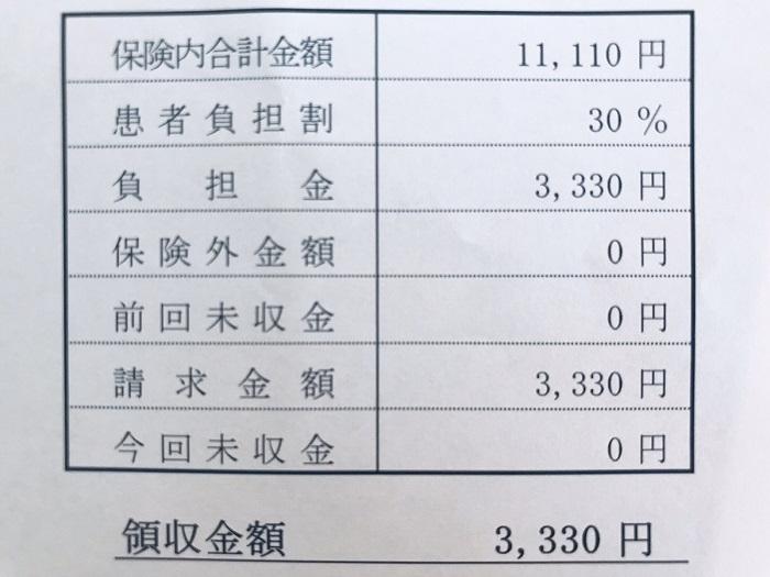 購入時の領収書(写真:リタ・トーコ)