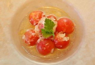 「ミニトマトのナムル」漬けダレがトマトの甘味を引き立てる