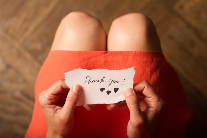 感謝の気持ちをちゃんと伝える(写真:iStock)