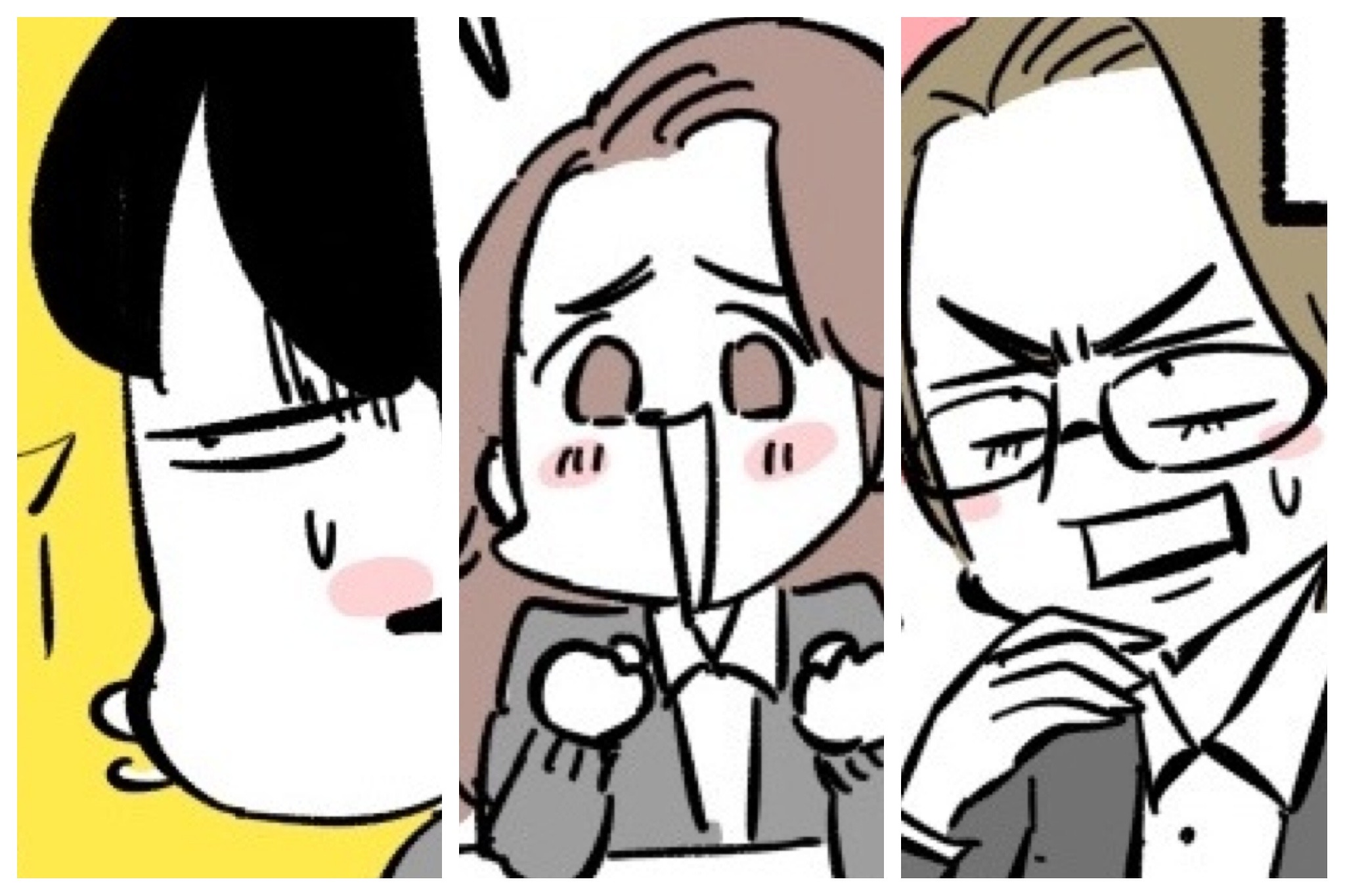 左から、だら先輩、ギャルちゃん、ピカ子(漫画:若林杏樹)