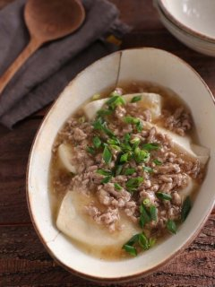 めんつゆLOVE「とろ~り豆腐あんかけ」で寒い日はポカポカに
