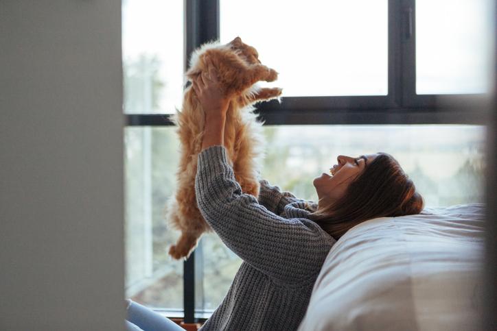 ペットの喜ぶ姿が癒しになる(写真:iStock)