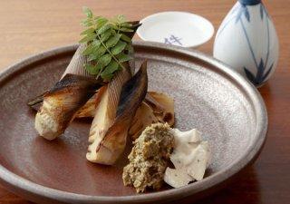 「焼き筍~ふきのとう味噌&ブルーチーズ」グリルで丸ごと!