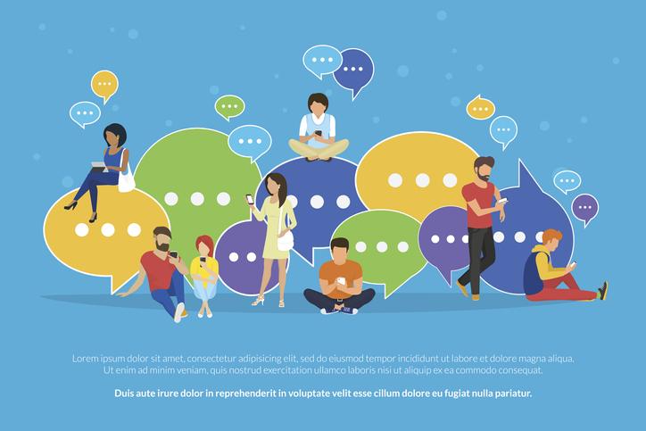 グループLINEで目立つにはどうする?(写真:iStock)
