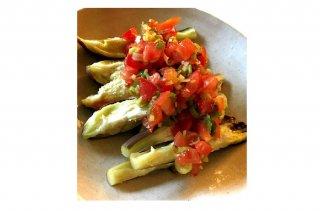 「蒸しナスの中華サルサ」ピリ辛な時短レシピをテキーラと!
