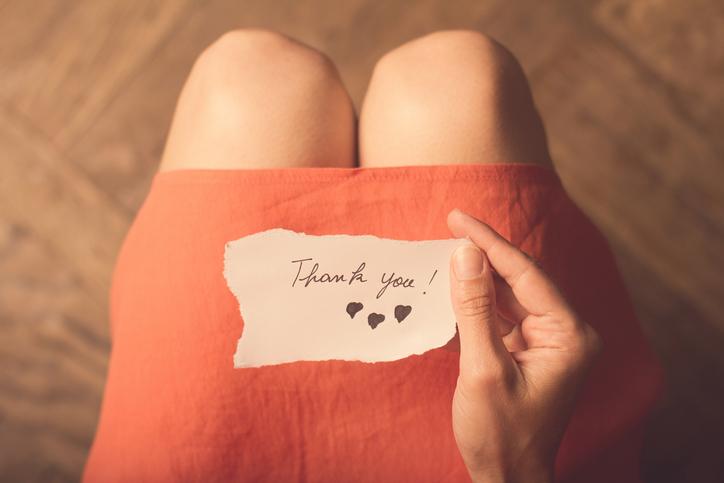 感謝する気持ちを忘れない(写真:iStock)