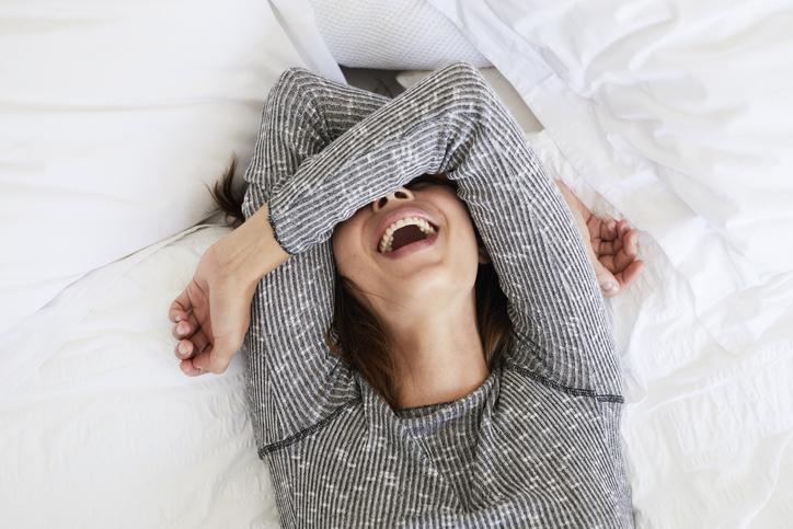 寝ている時間もムダにしない♪(写真:iStock)