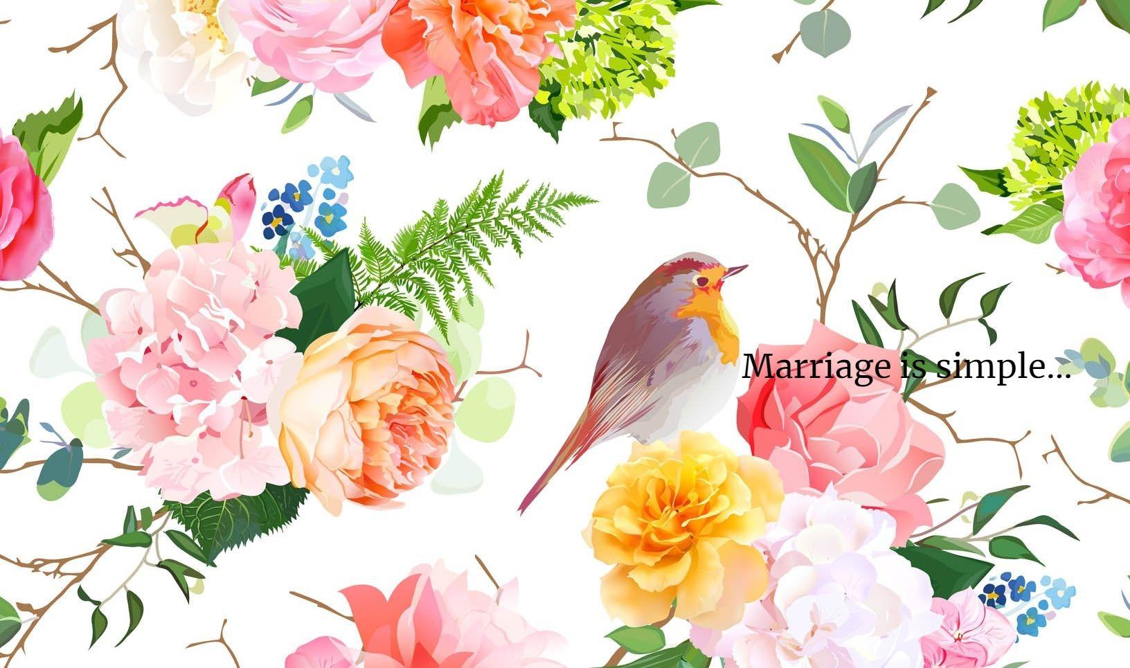 「結婚はシンプルなもの」