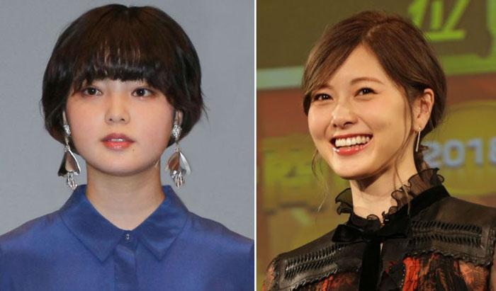 今年それぞれグループから巣立った平手(左)と白石(右)。「国民的グループのエース」が女優として成功するのは意外にも難しい!?/(C)日刊ゲンダイ