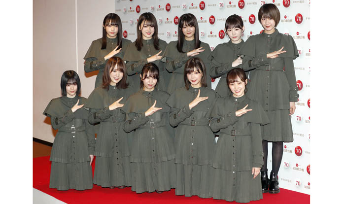 デビュー年から紅白に4年連続出場してきた欅坂46。昨年会見に登場したメンバーは現・櫻坂46の主力でもある/(C)日刊ゲンダイ