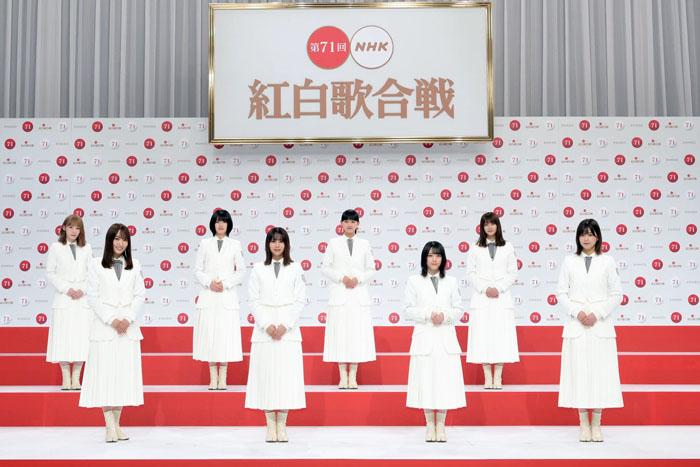 改名後初の紅白出場を決めた櫻坂46。NiziU同様正式デビューは来月だが紅白出場は本当に早すぎる…?(C)NHK