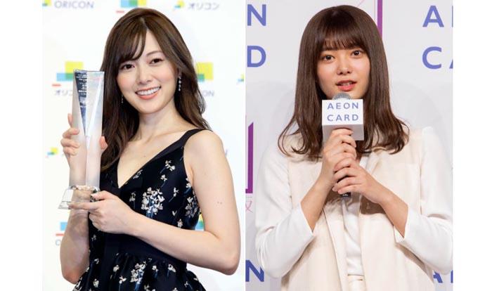 櫻坂46期待の2期生田村(右)は白石(左)と重なる点が多い。彼女が愛されるわけとは…!?/「イオンカード20周年キャンペーン発表イベント」(右)、(C)日刊ゲンダイ(左)