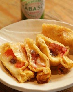 「チーズトマトの包み焼き」アンチョビーを加え洋風なコクを