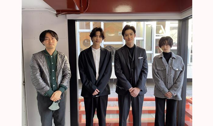 初共演で兄弟のように親しくなり食事にも出かけていた3人(左から平手、岡田、志尊)/「さんかく窓の外側は夜」公式Twitter(2021年1月7日付)より