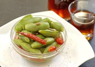 「枝豆の中国風おつまみ」口に入れた瞬間スープがジュワッと