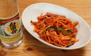 「ナポリそば」麺は茹でずにレンジでチン!パスタよりも簡単