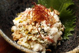 レンジで簡単に作れる「木綿豆腐の干しエビ刻み高菜和え」
