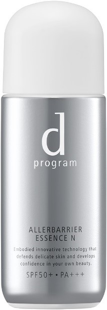 d プログラム アレルバリア エッセンス N<敏感肌用 日中用美容液> 40mL SPF50+・PA+++ 希望小売価格3,000円(税込3,300円)商品詳細:https://www.shiseido.co.jp/dp/allerbarrier/