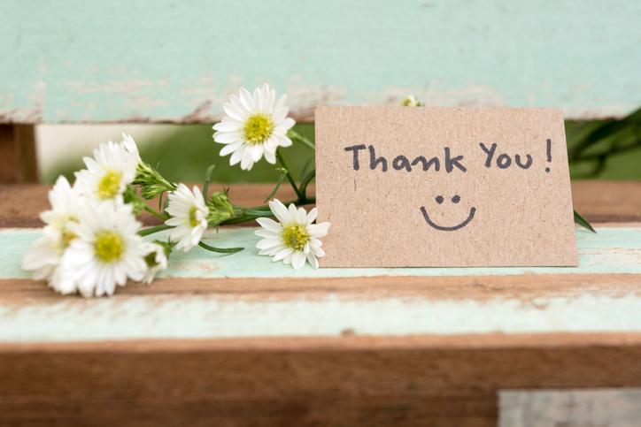 「ありがとう」を忘れずに(写真:iStock)