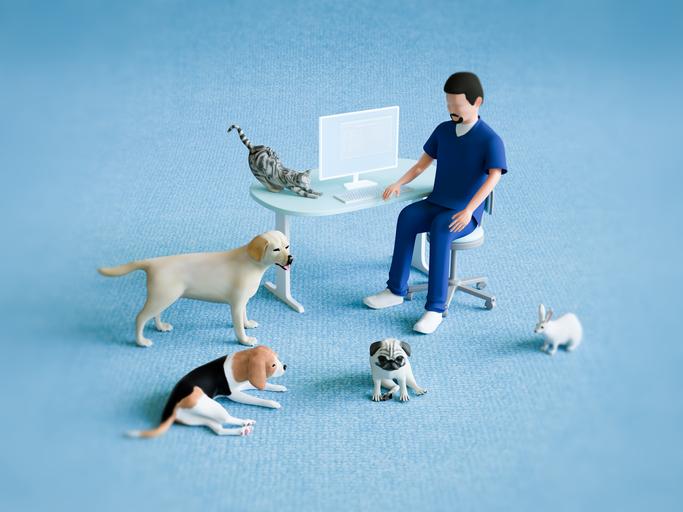動物病院で「おかあさん」デビュー(写真:iStock)