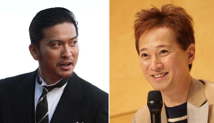 先月ジャニーズを退所した長瀬(左)。TOKIOと2大グループであったSMAP(写真画像はリーダーだった中居、右)との相違から彼の功績を振り返る/(C)日刊ゲンダイ