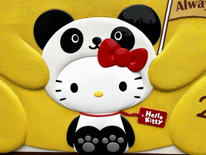 上野のキティちゃんはパンダ仕様でした(C)コクハク