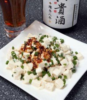 「小ネギと豆腐のゴマ塩あえ」切った材料をあえるだけで完成