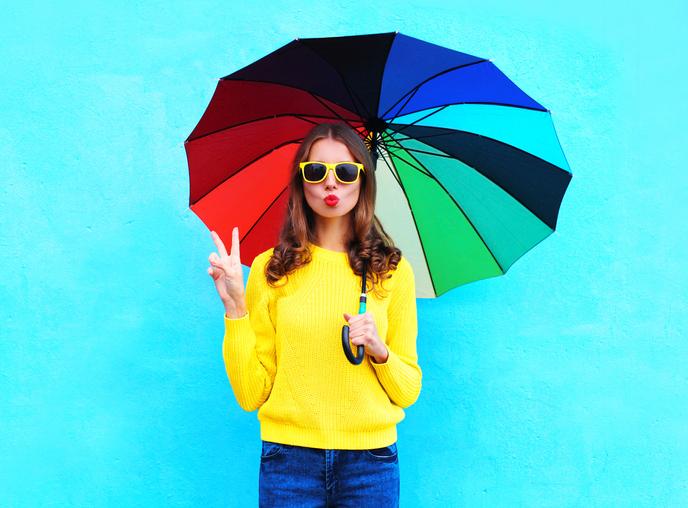 雨の日でもストレスなく過ごそう♡(写真:iStock)