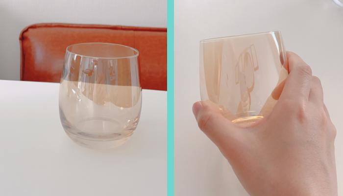 【おうちカフェを楽しむ】オーロラグラス ブラウン 税込330円/(写真:canちゃん)