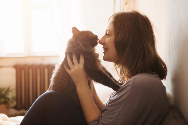 猫がいるだけで幸せ(写真:iStock)