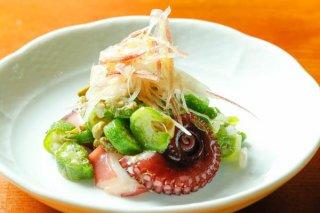 「タコとオクラのマリネ」イタリア魚醤で味の輪郭くっきり