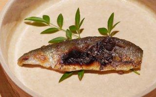 焼き上がりパリパリ「鮎の風干し焼き」内臓が味を引き立てる