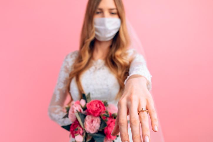コロナ禍でも結婚できた女性